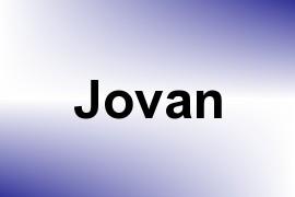 Jovan name image