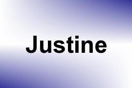 Justine name image