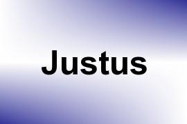 Justus name image