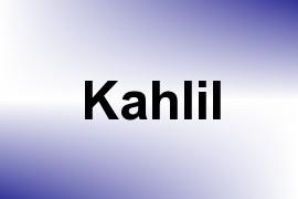 Kahlil name image
