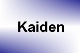 Kaiden name image