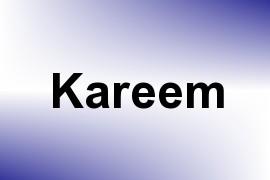 Kareem name image
