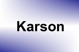 Karson name image