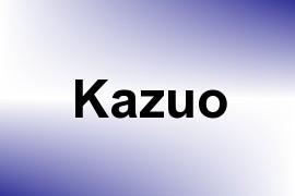 Kazuo name image