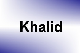 Khalid name image