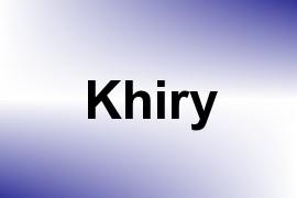 Khiry name image
