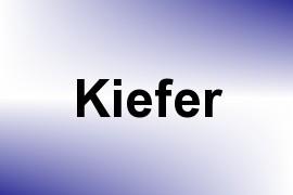 Kiefer name image