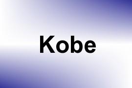 Kobe name image