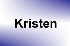 Kristen name image