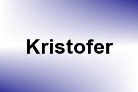 Kristofer name image