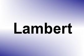 Lambert name image