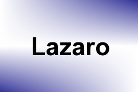 Lazaro name image