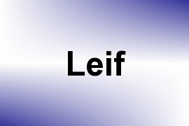 Leif name image