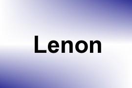 Lenon name image