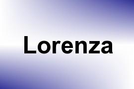 Lorenza name image