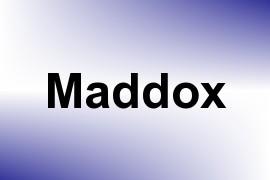 Maddox name image