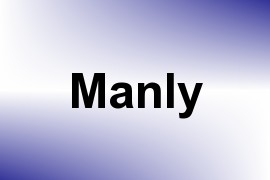 Manly name image