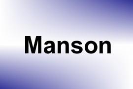 Manson name image