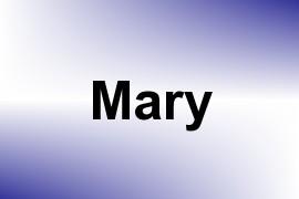 Mary name image