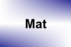 Mat name image
