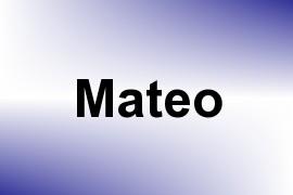 Mateo name image