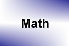 Math name image
