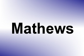 Mathews name image