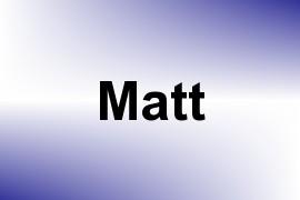 Matt name image