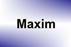 Maxim name image