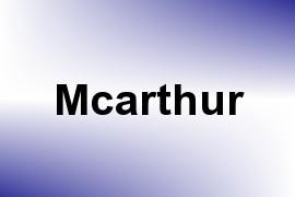 Mcarthur name image