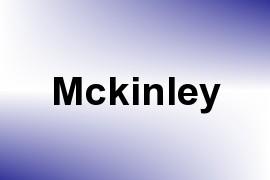 Mckinley name image