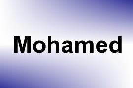 Mohamed name image