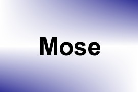 Mose name image