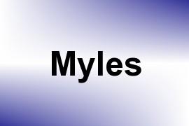 Myles name image