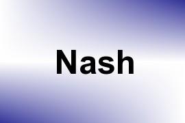 Nash name image