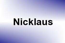 Nicklaus name image