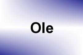 Ole name image