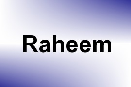 Raheem name image