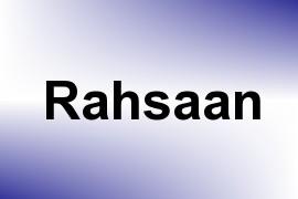 Rahsaan name image