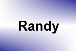 Randy name image