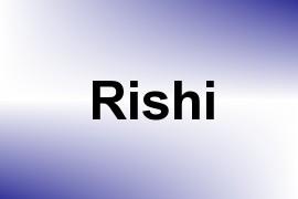 Rishi name image