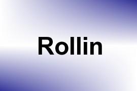 Rollin name image