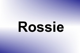 Rossie name image