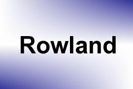 Rowland name image