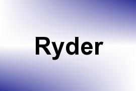 Ryder name image