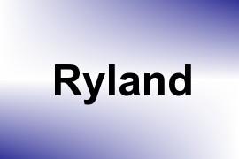 Ryland name image
