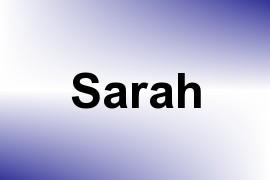Sarah name image