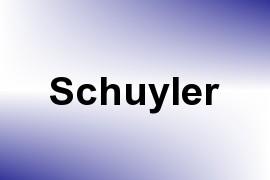 Schuyler name image