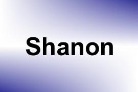 Shanon name image