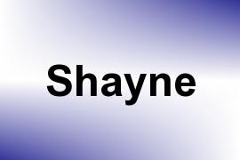 Shayne name image